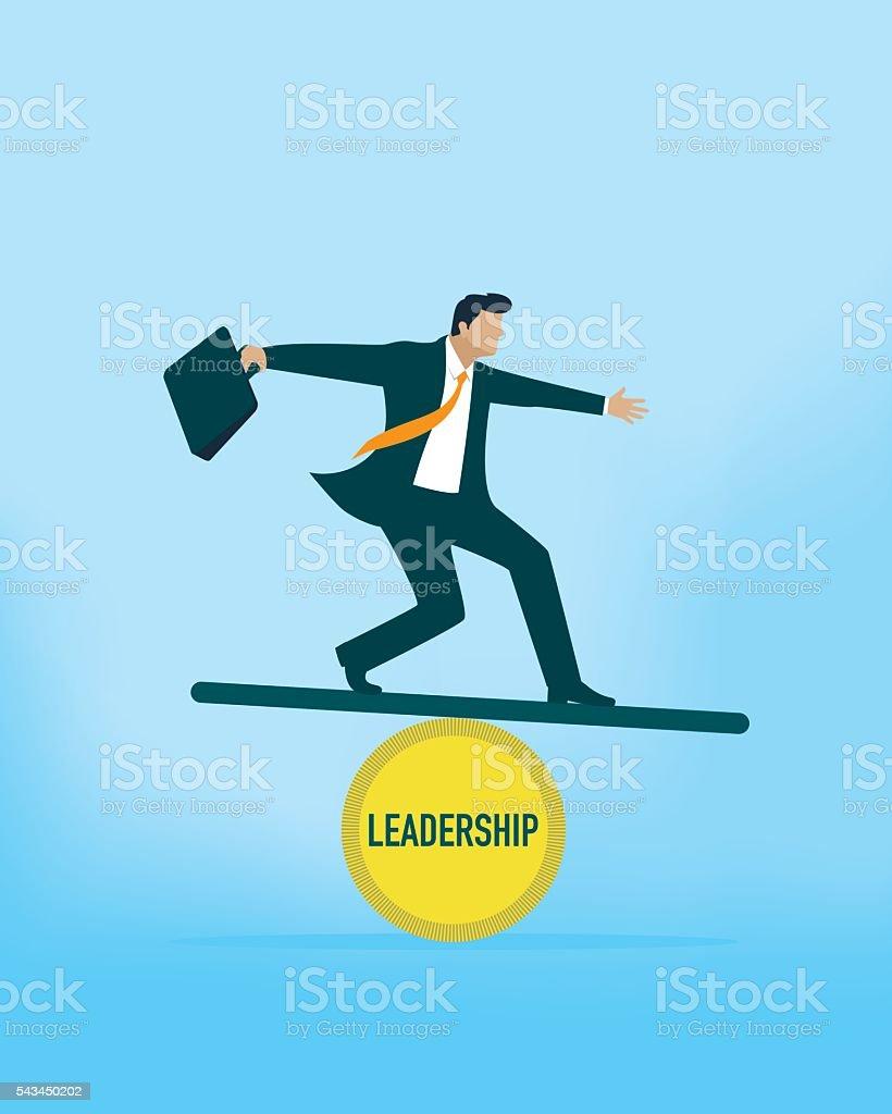 Leadership Balance vector art illustration