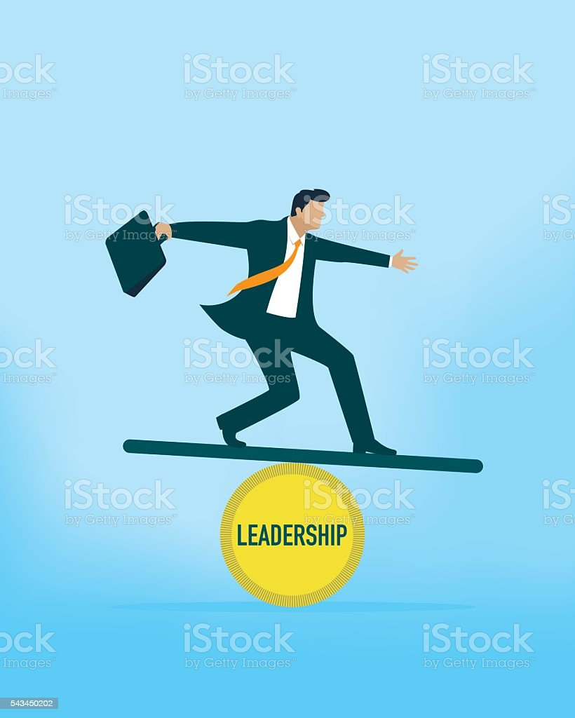 Leadership Balance vector art illustration