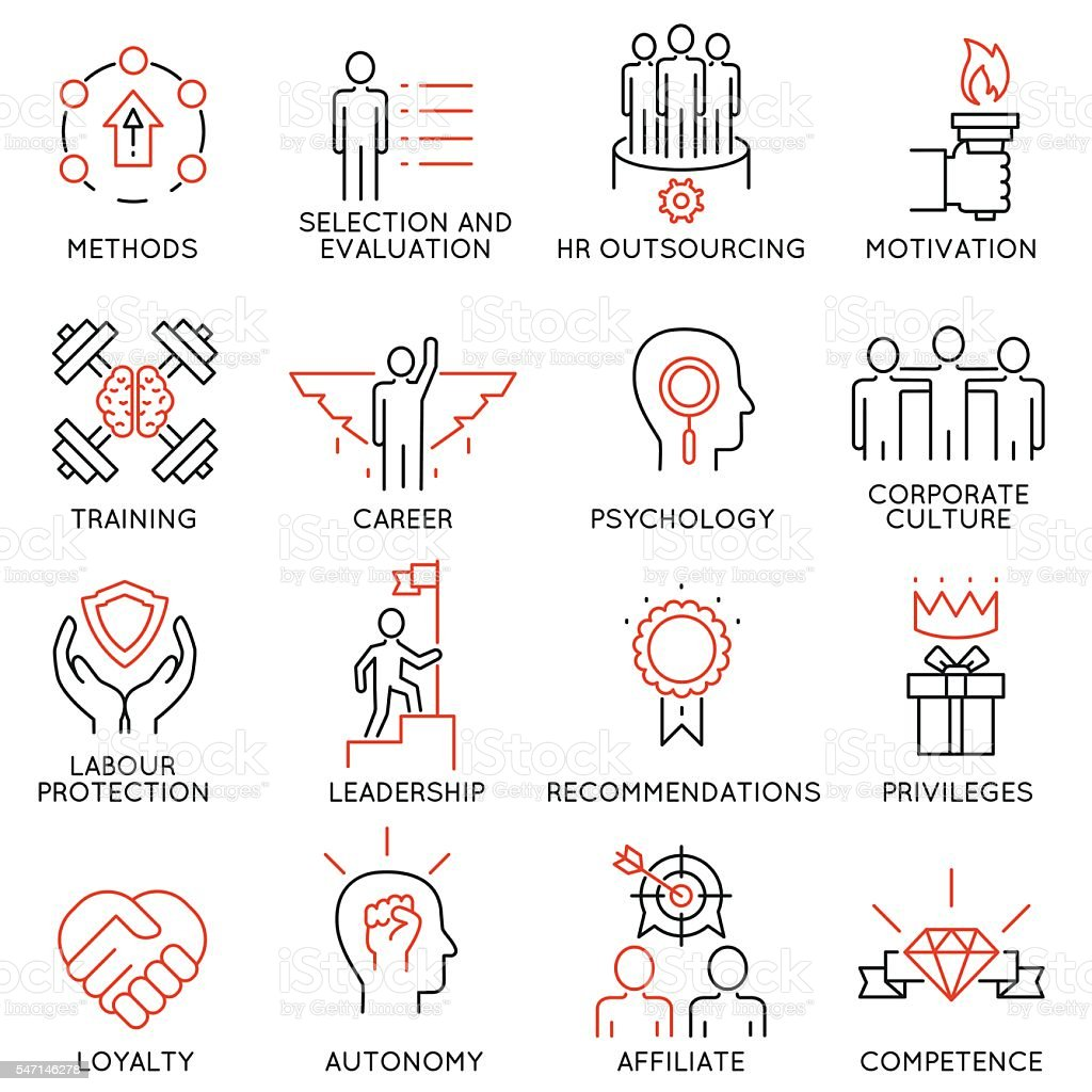 Leadership, career progress and personal training icons - part 1 vector art illustration