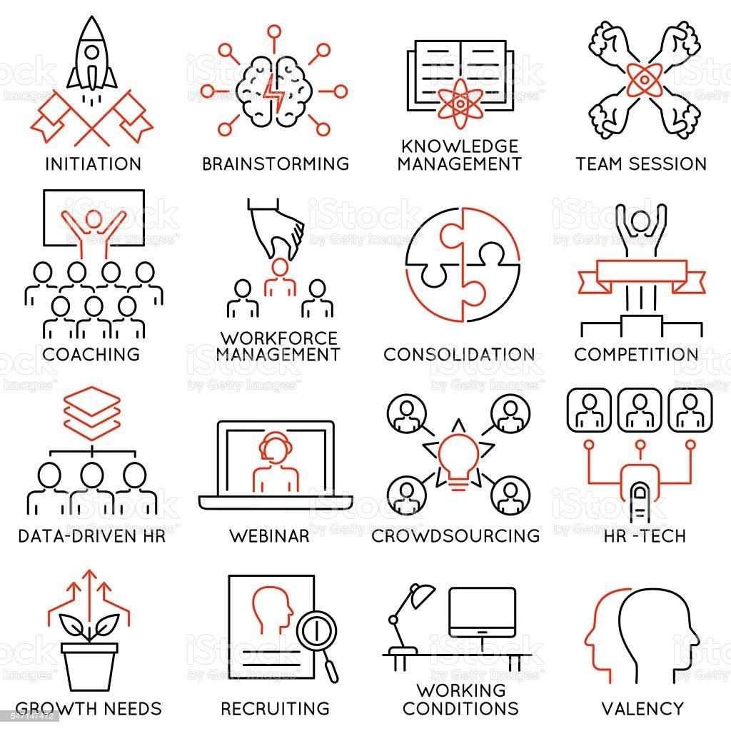 Leadership, career progress and personal training - part 2 vector art illustration