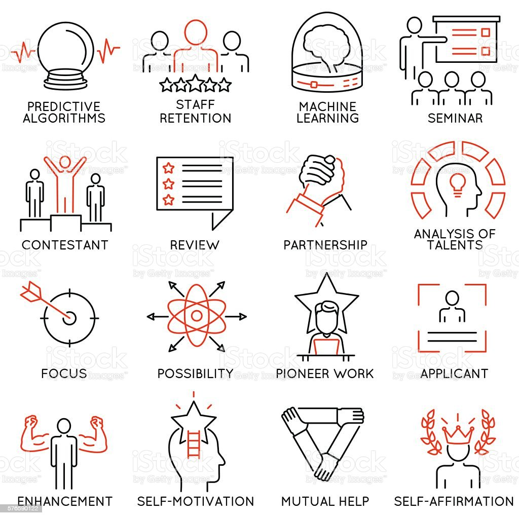 Leadership, career progress and personal training - part 3 vector art illustration