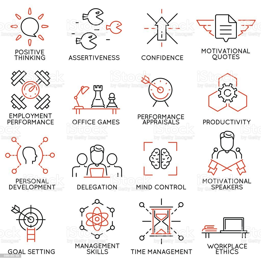 Leadership, career progress and personal training - part 7 vector art illustration