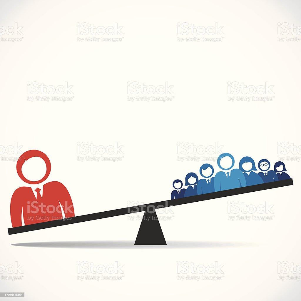 leadership concept vector art illustration