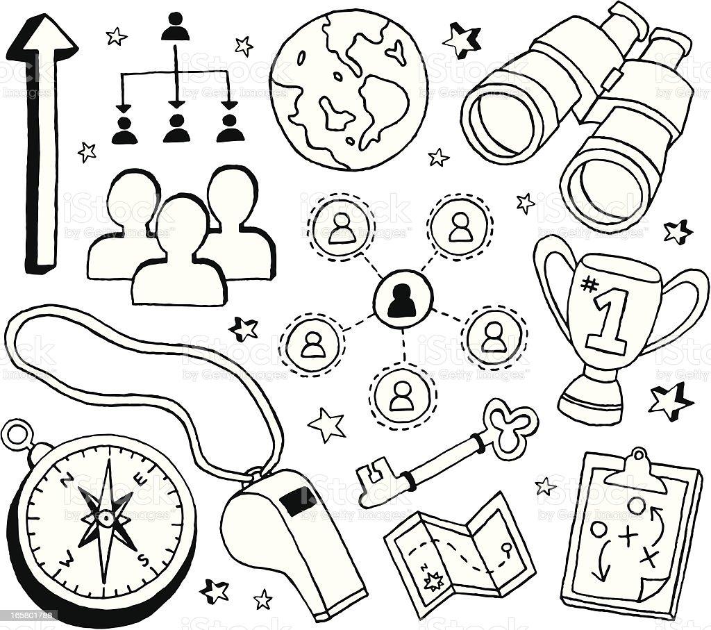 Leadership Doodles royalty-free stock vector art