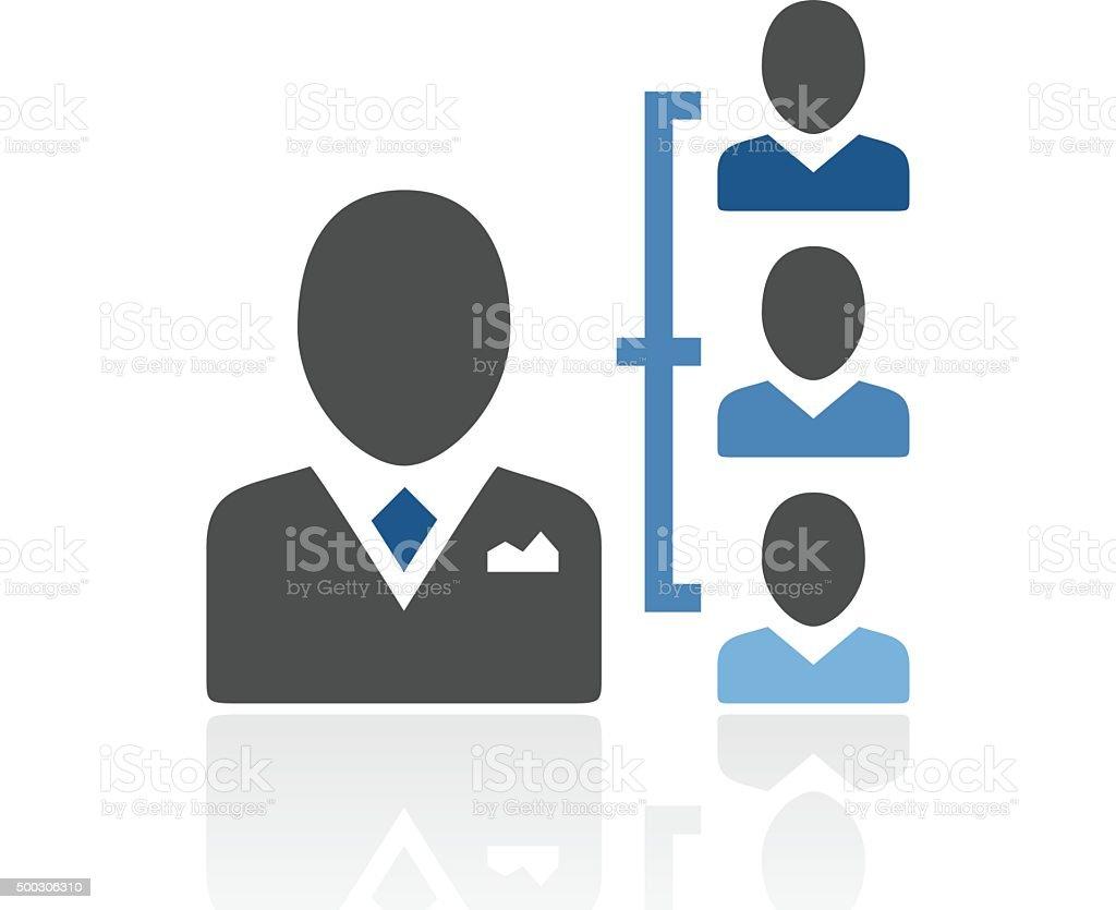 Leadership icon on a white background. - RoyalSeries vector art illustration
