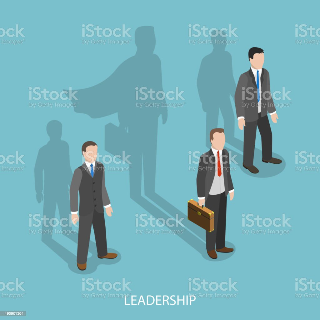 Leadership isometric flat vector concept. vector art illustration