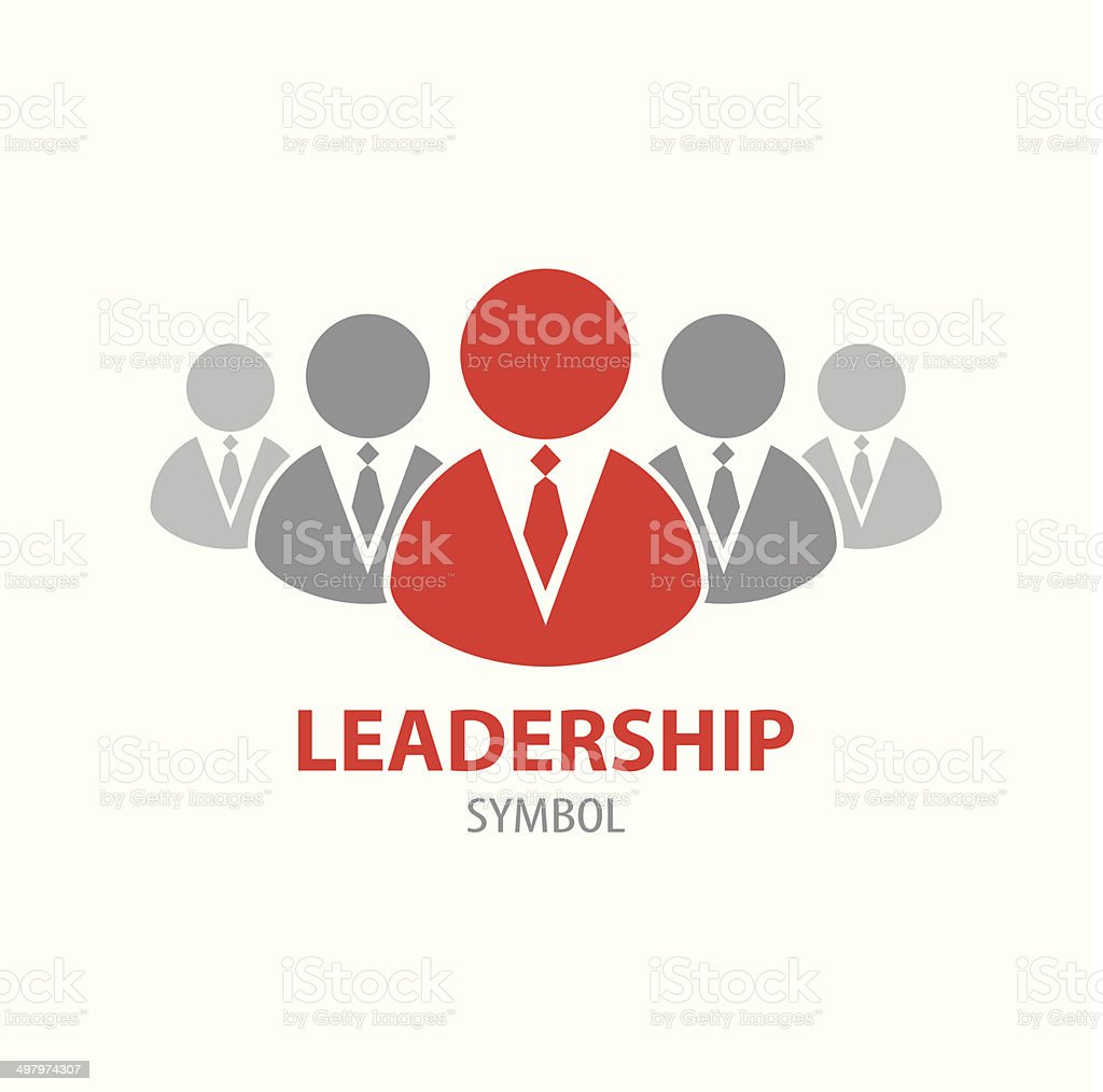 Leadership symbol icon vector art illustration