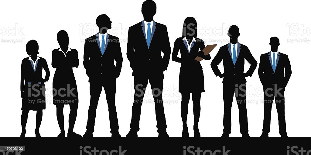 Leadership (Each Person is Detailed and Complete) vector art illustration