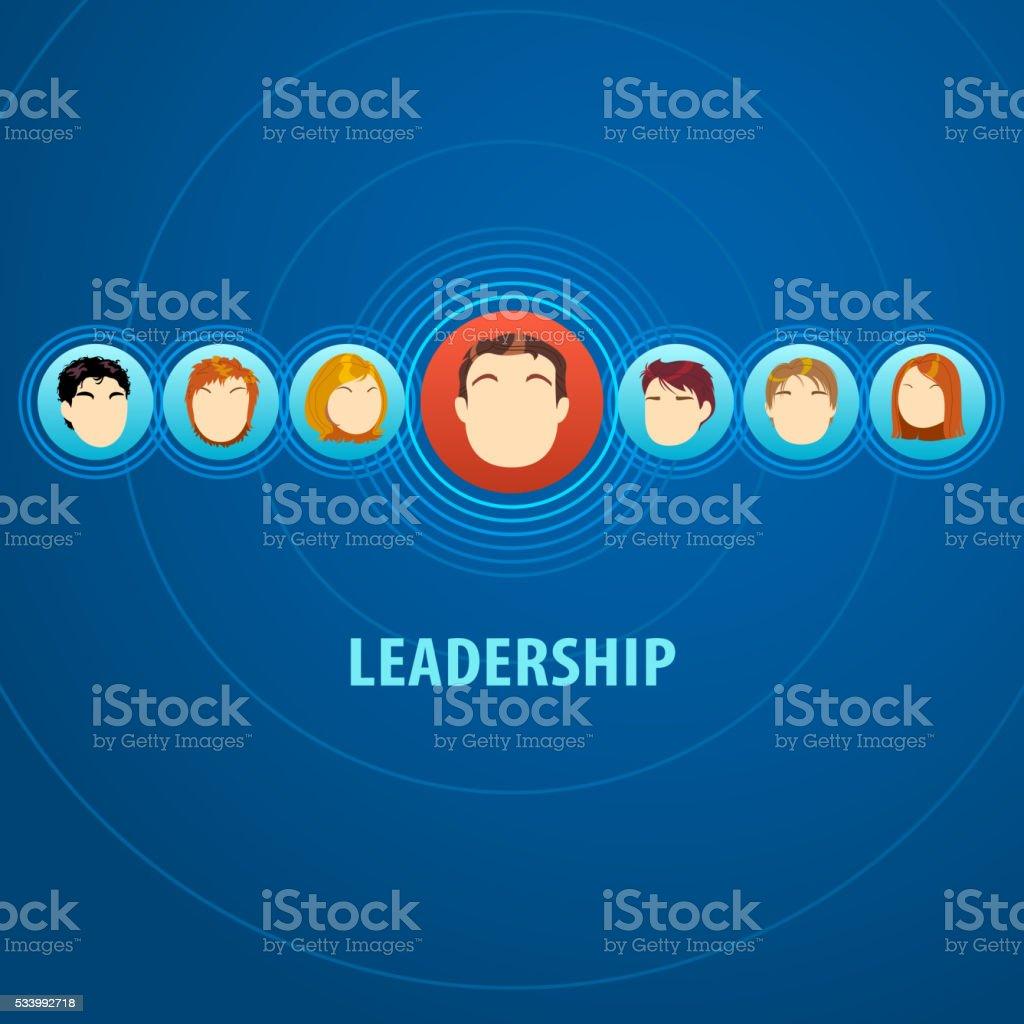 Leadership vector art illustration