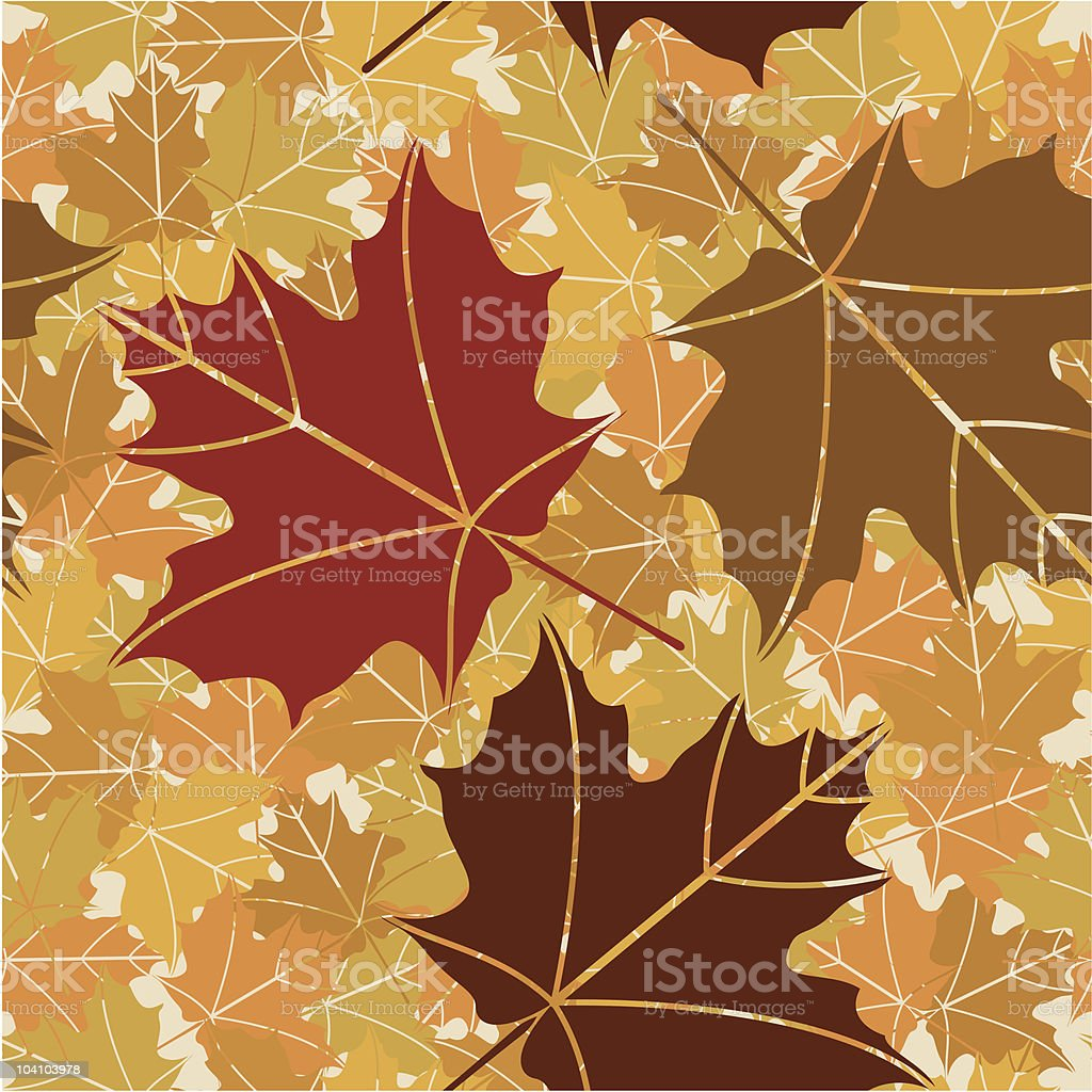 Leaf background (seamless) royalty-free stock vector art