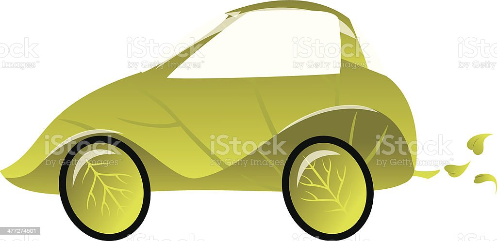 Leaf Car royalty-free stock vector art