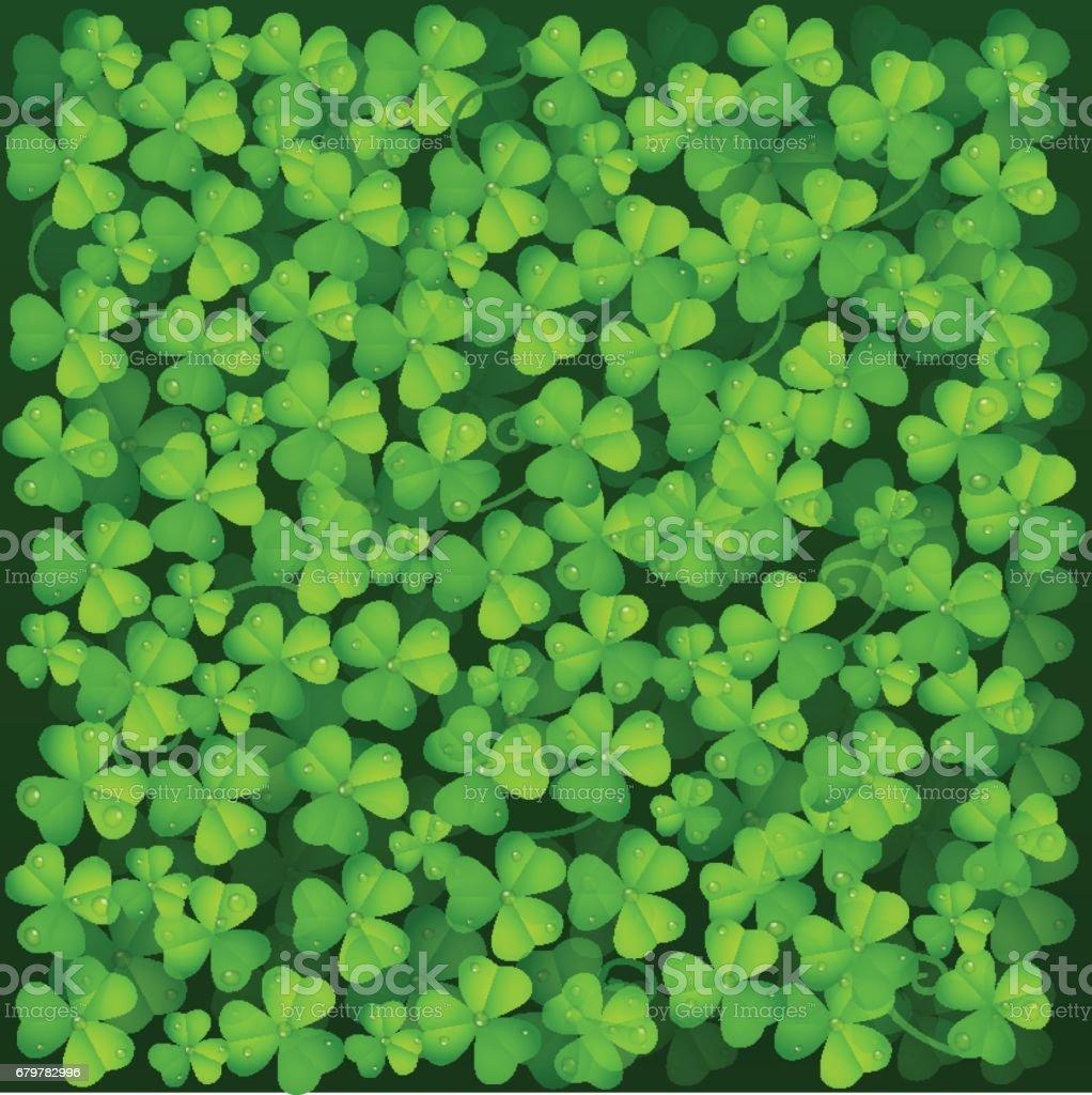 Leaf Clover Background vector art illustration