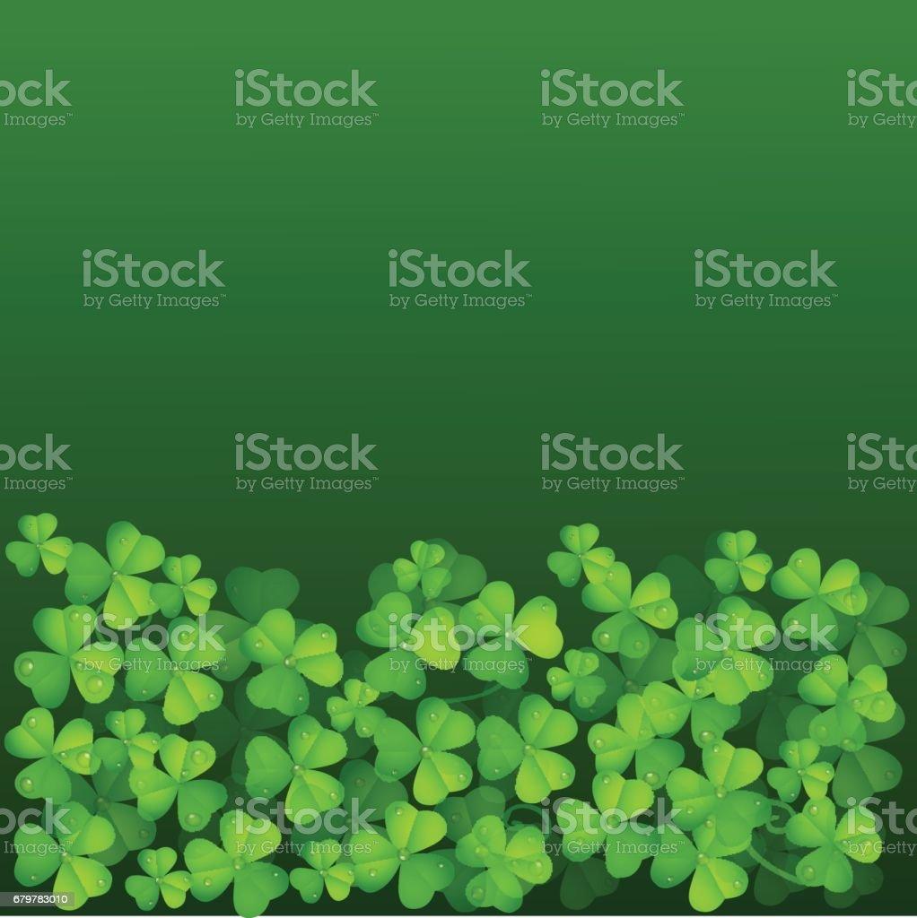Leaf Clover Green Background vector art illustration