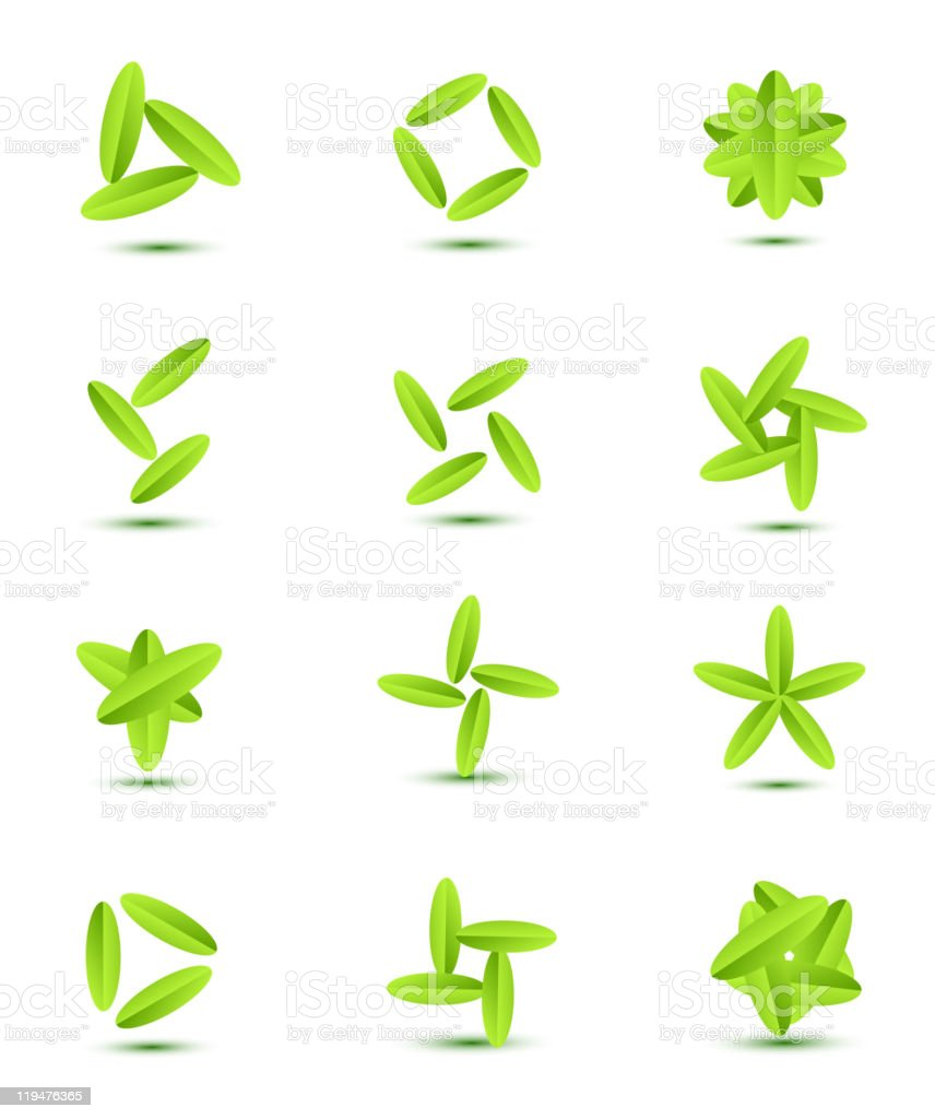 Leaf design elements royalty-free stock vector art