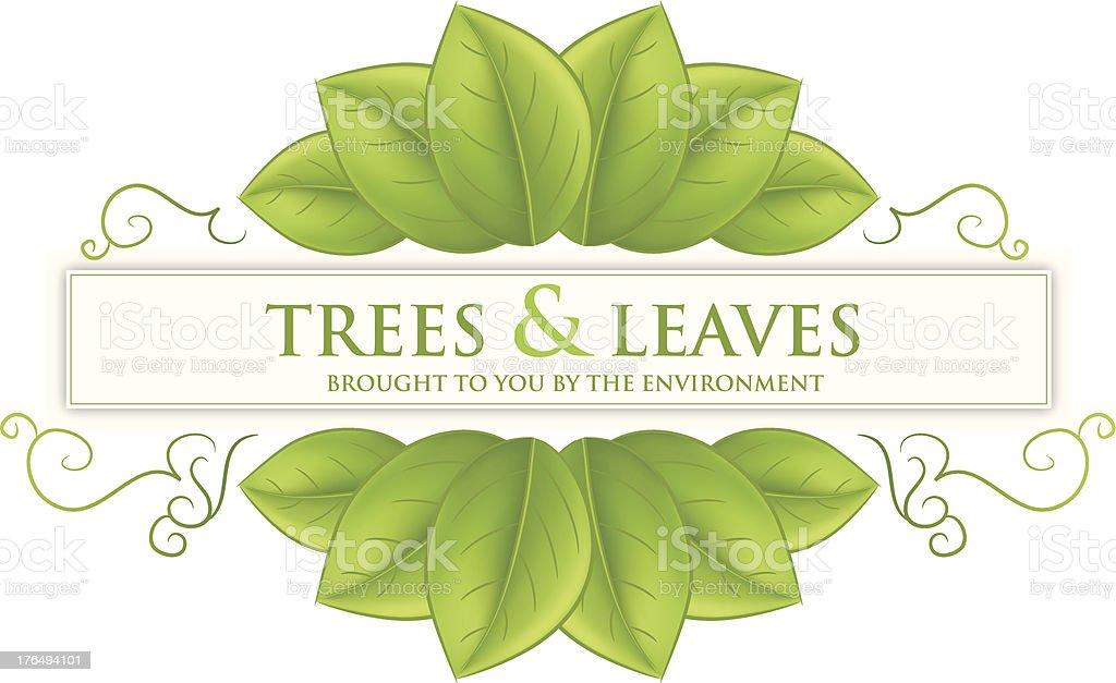 Leaf Environment Banner vector art illustration