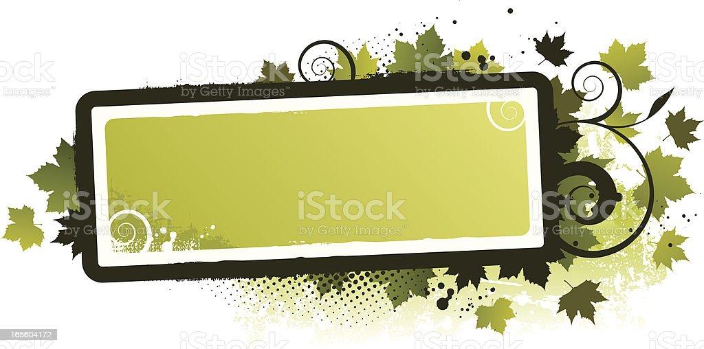 Leaf frame green royalty-free stock vector art