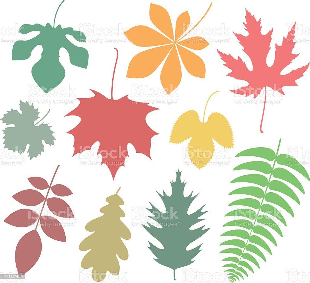 Leaf. Icon. Autumn vector art illustration