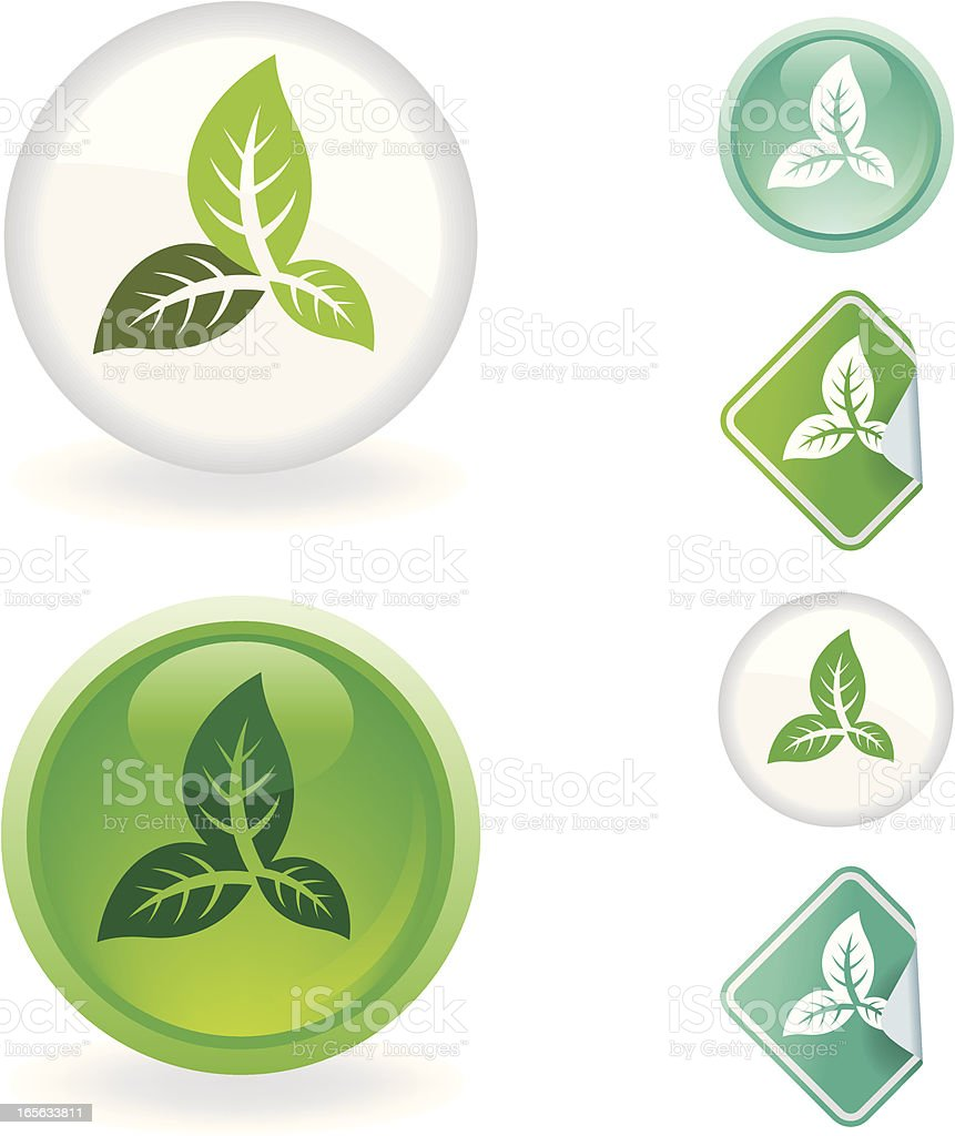 Leaf  icon | Ecological series royalty-free stock vector art