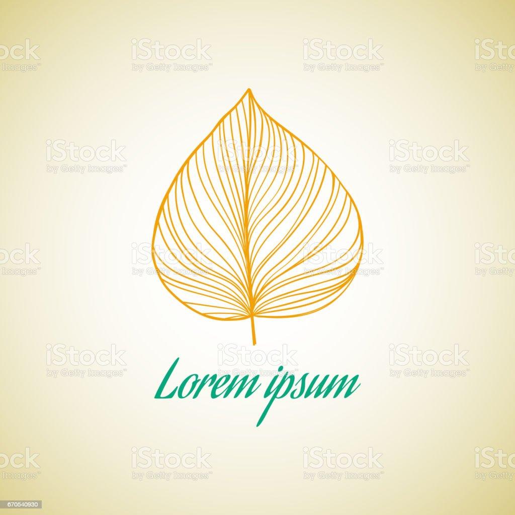 Leaf ideas design vector illustration on background vector art illustration