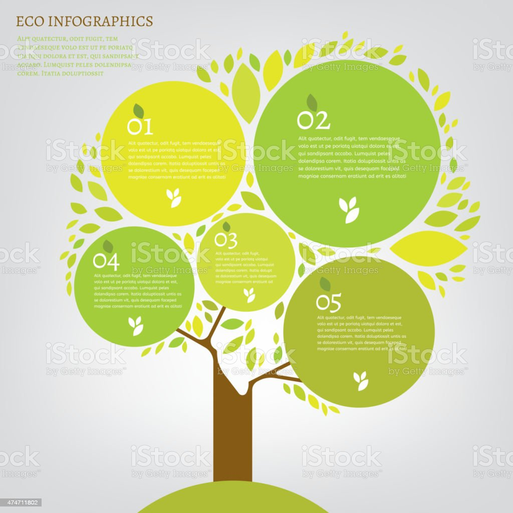 Leaf infographic royalty-free stock vector art