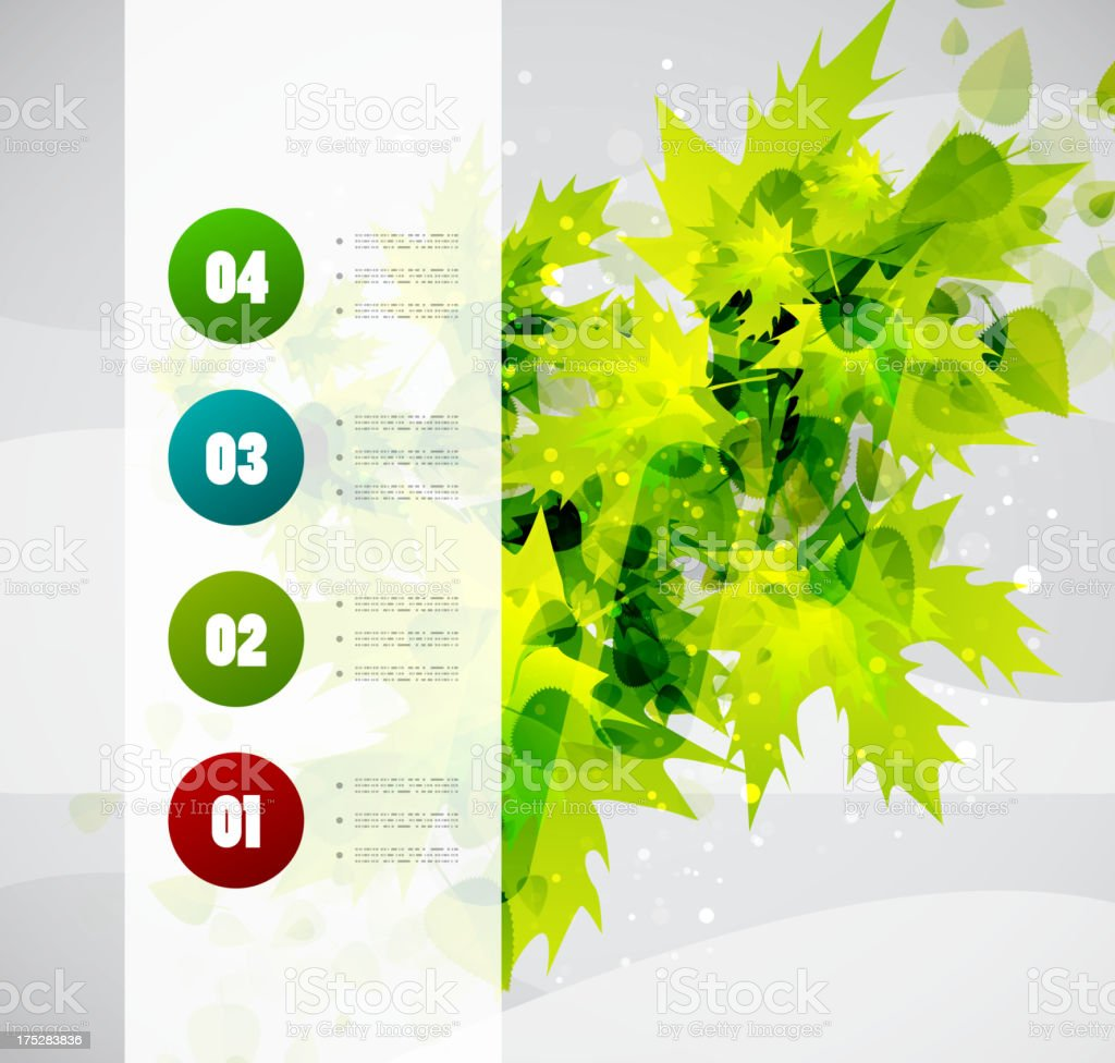 Leaf nature infographic design royalty-free stock vector art