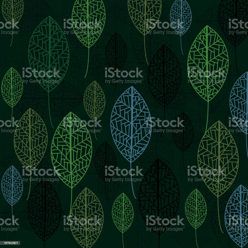 leaf pattern background royalty-free stock vector art