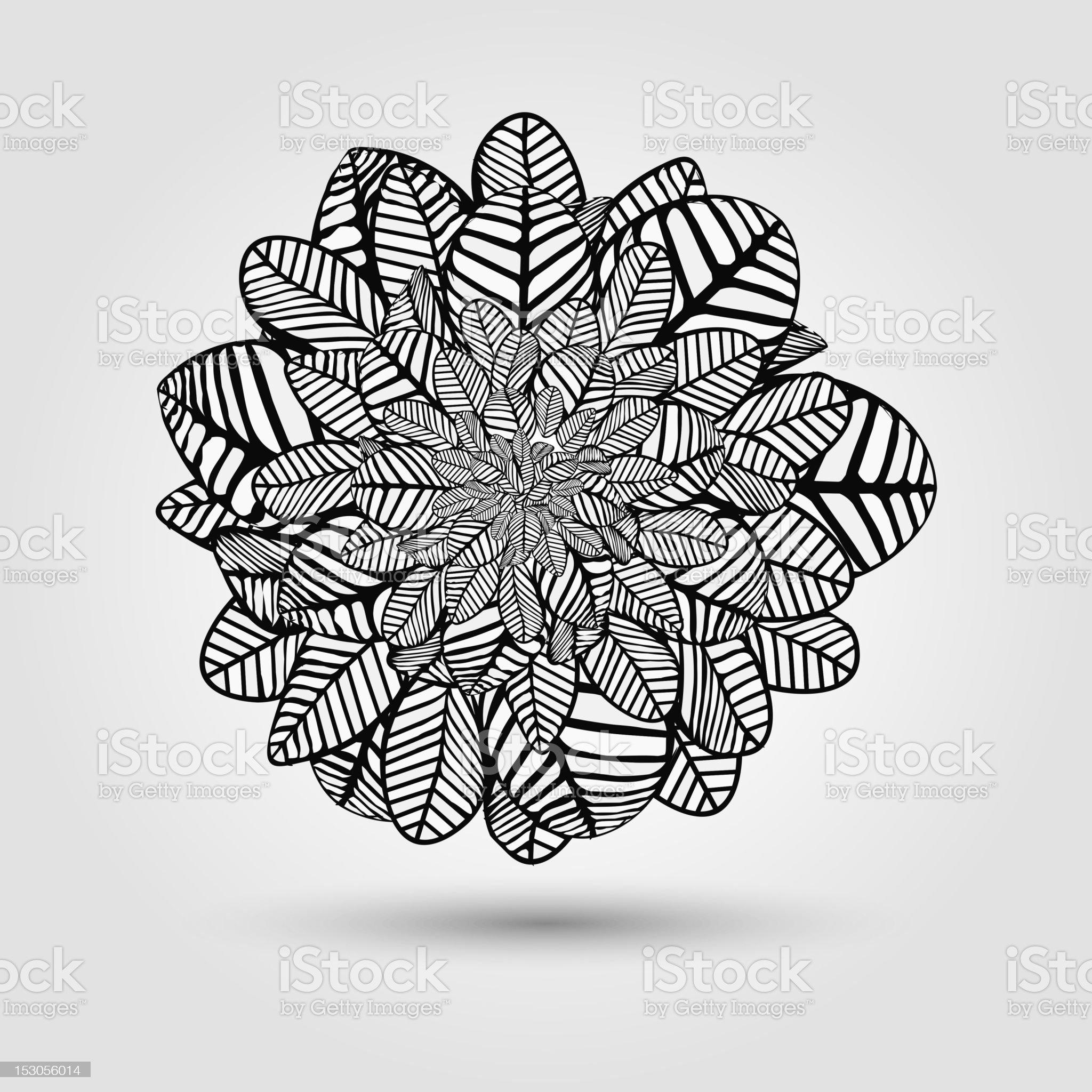 leaf pattern for design royalty-free stock vector art