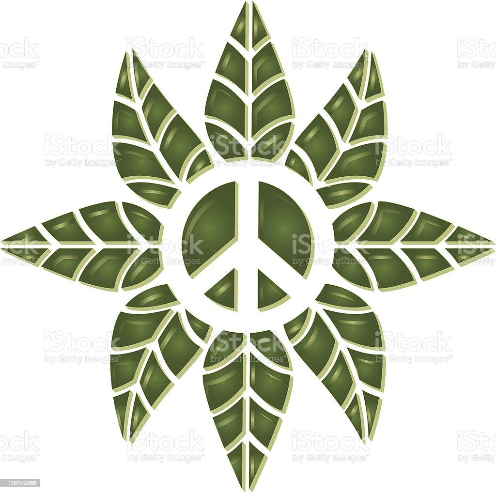 Leaf Peace royalty-free stock vector art
