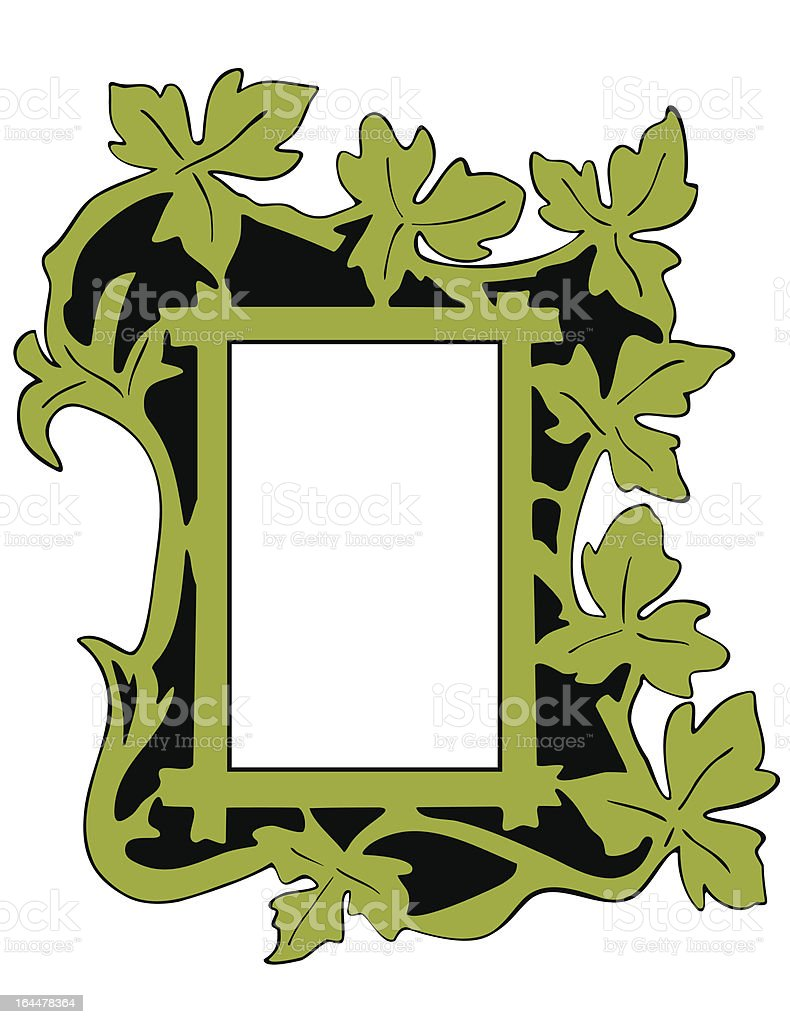 Leaf Photo Frame royalty-free stock vector art