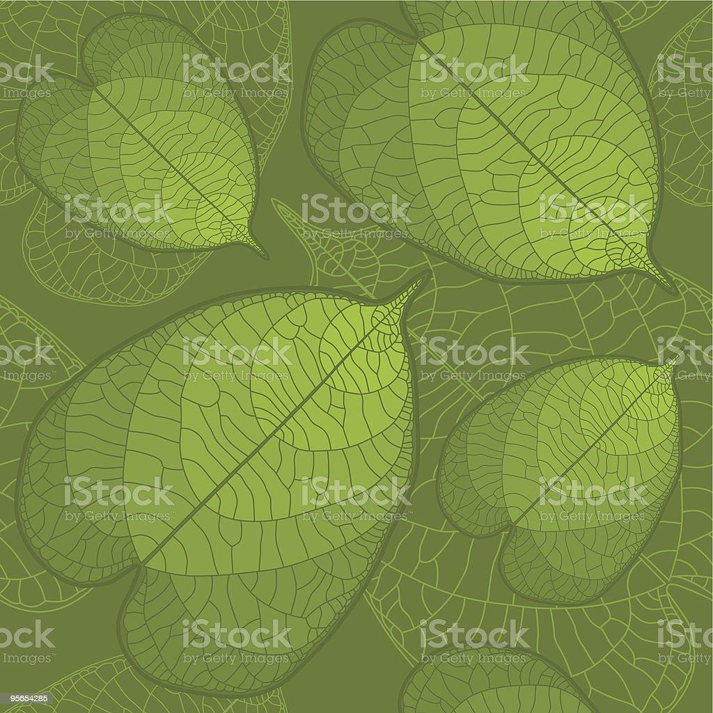 Leaf seamless background vector art illustration