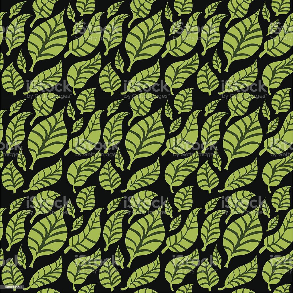 leaf seamless pattern vector art illustration