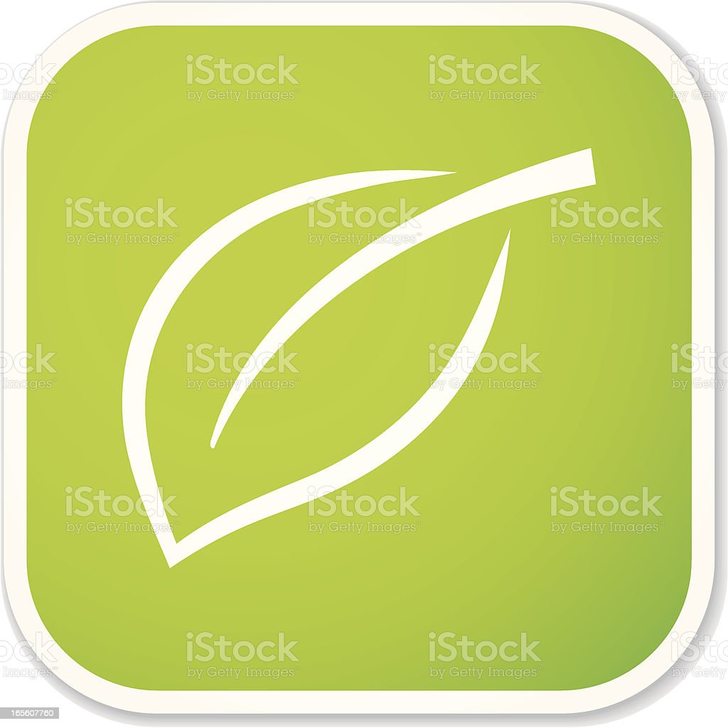 leaf sq sticker royalty-free stock vector art