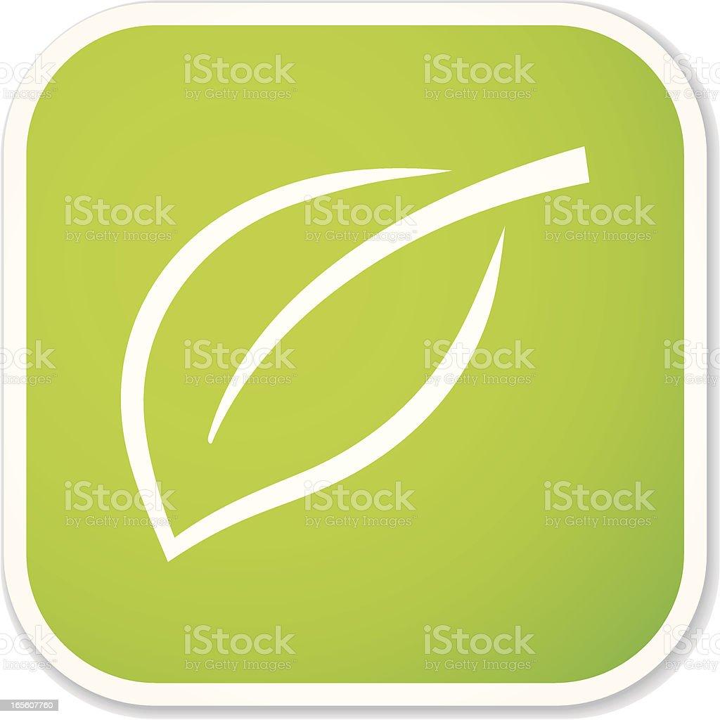 leaf sq sticker vector art illustration