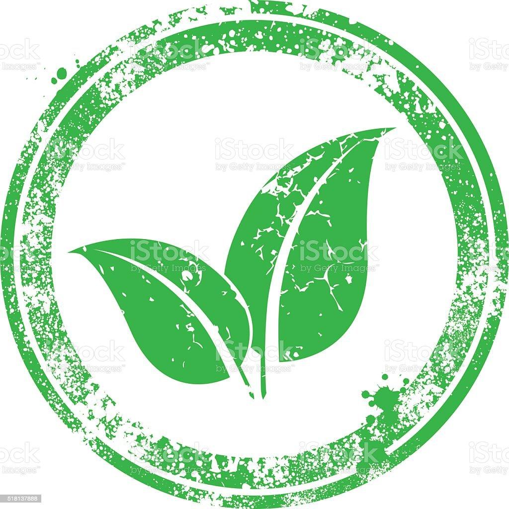 Leaf Stamp vector art illustration