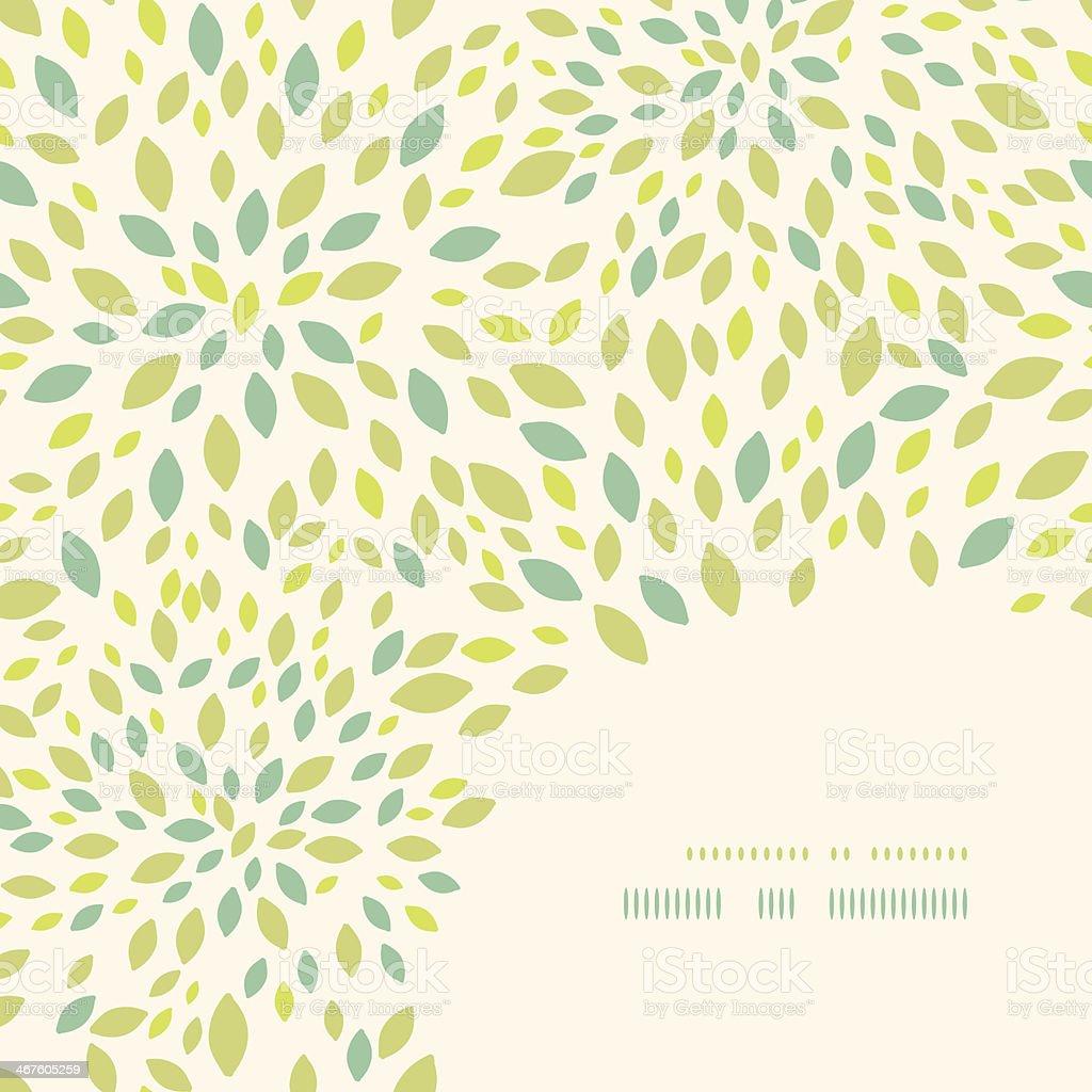 Leaf texture corner decor pattern background royalty-free stock vector art