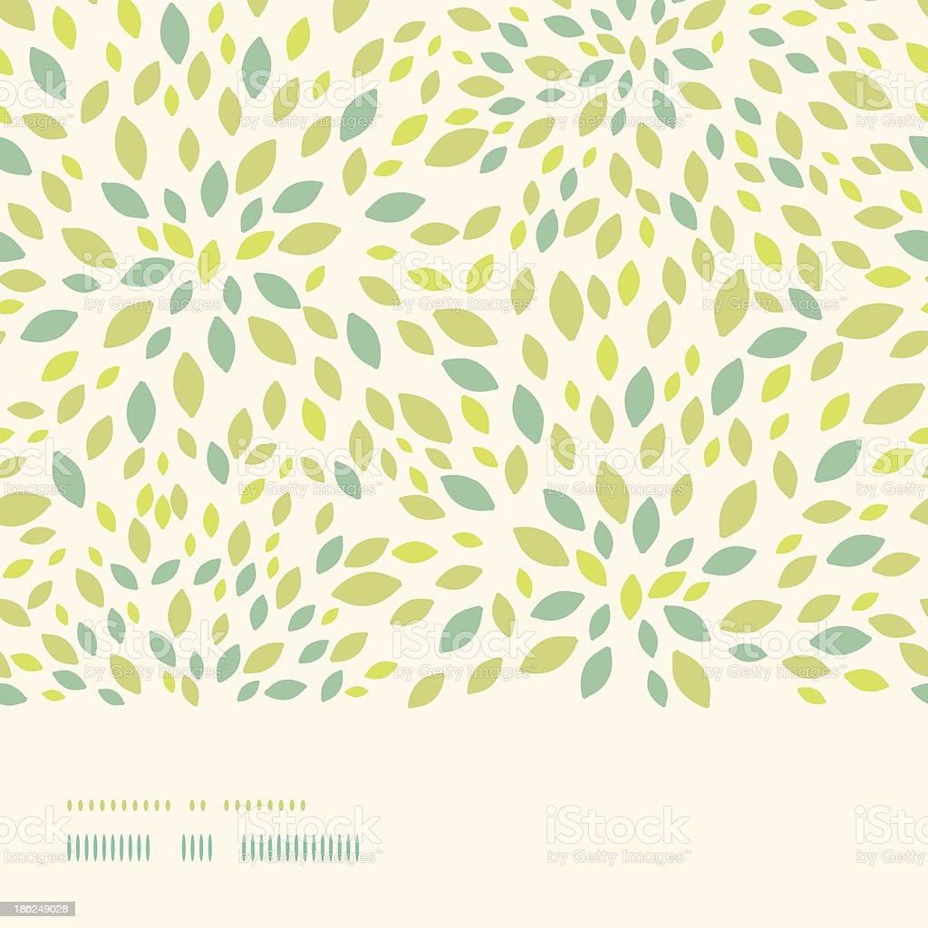 Leaf texture horizontal border seamless pattern background vector art illustration