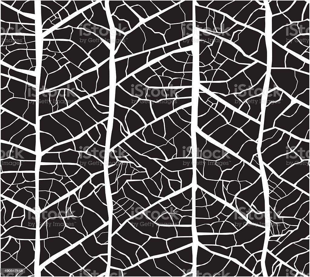 Leaf veins seamless texture pattern vector art illustration
