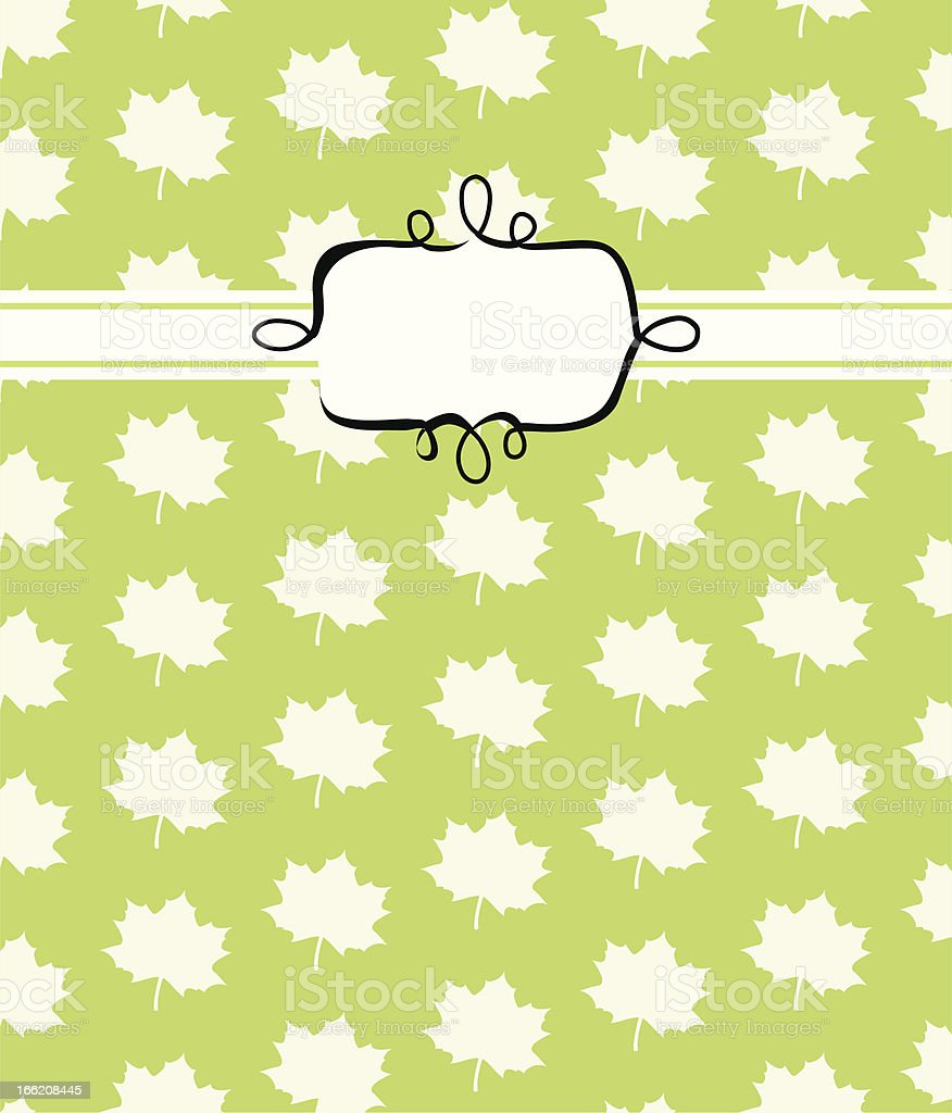 Leafcover with Label II. royalty-free stock vector art