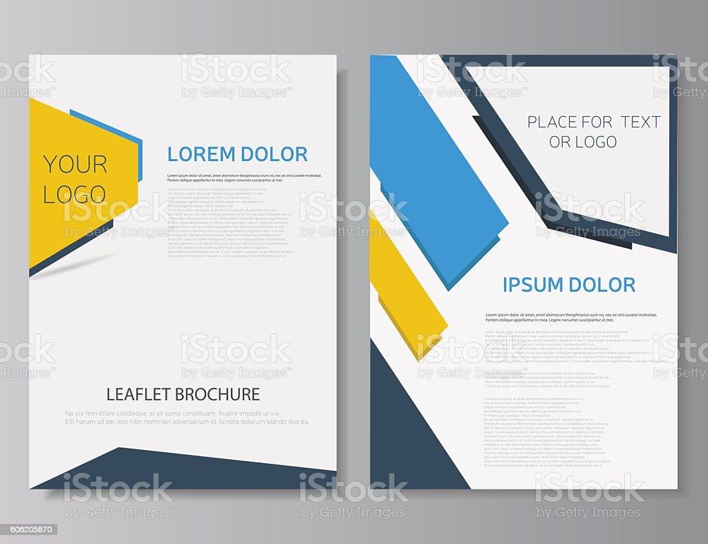 Leaflet brochure template. Flyer or mazagine cover. Booklet layout....