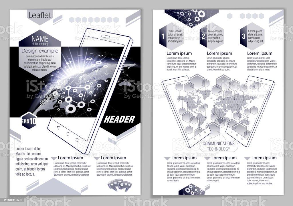 Leaflet design example vector art illustration