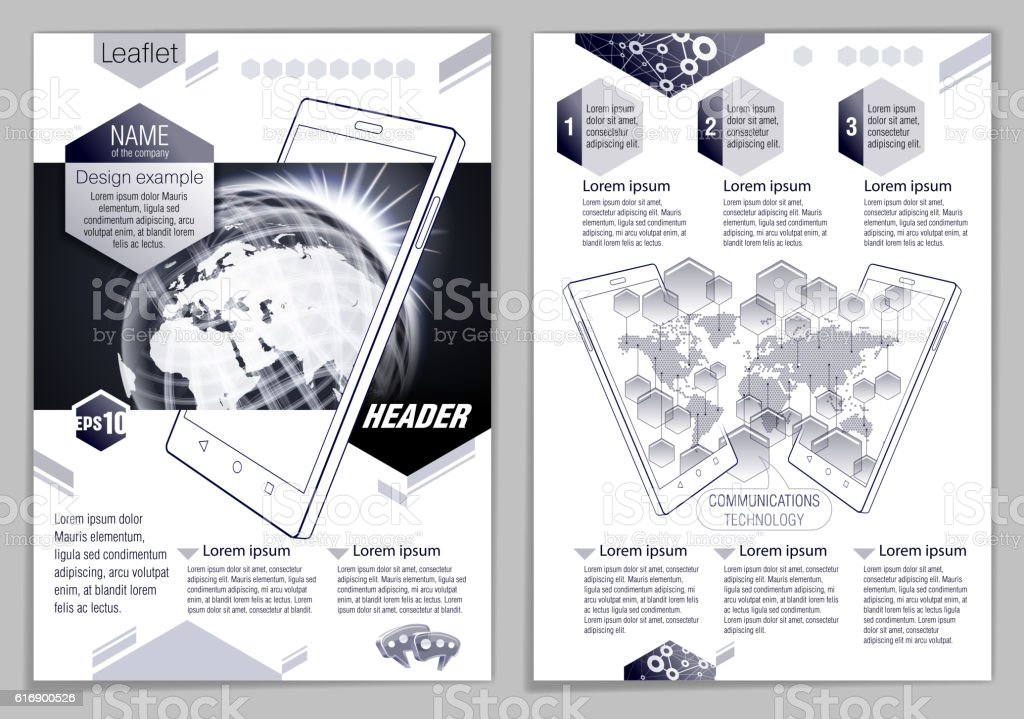 Leaflet design example vector art illustration
