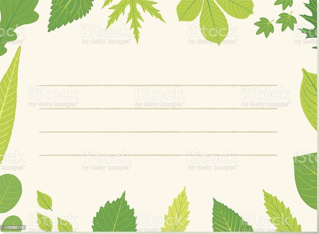 Leafpaper (decorative leafborder). vector art illustration