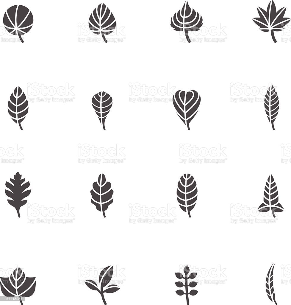 Leafs Icons for Pattern vector art illustration