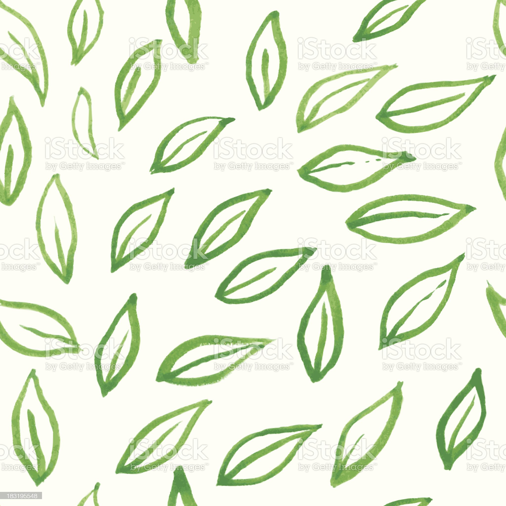 Leafs pattern royalty-free stock vector art