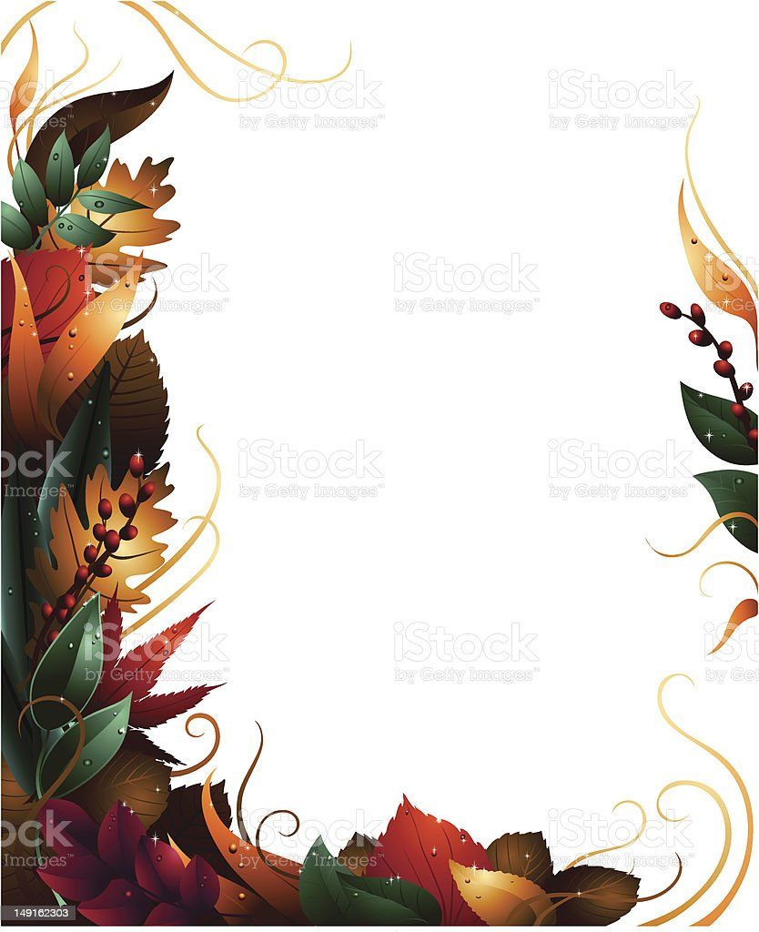 Leafy Border royalty-free stock vector art