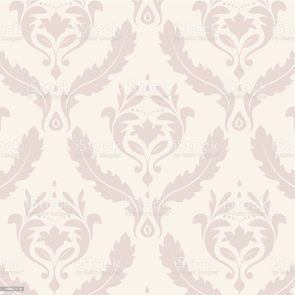 Leafy Damask royalty-free stock vector art