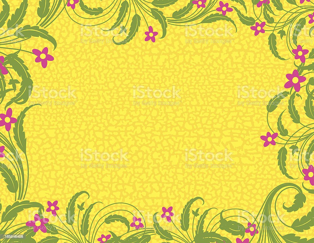 Leafy Grunge Page royalty-free stock vector art