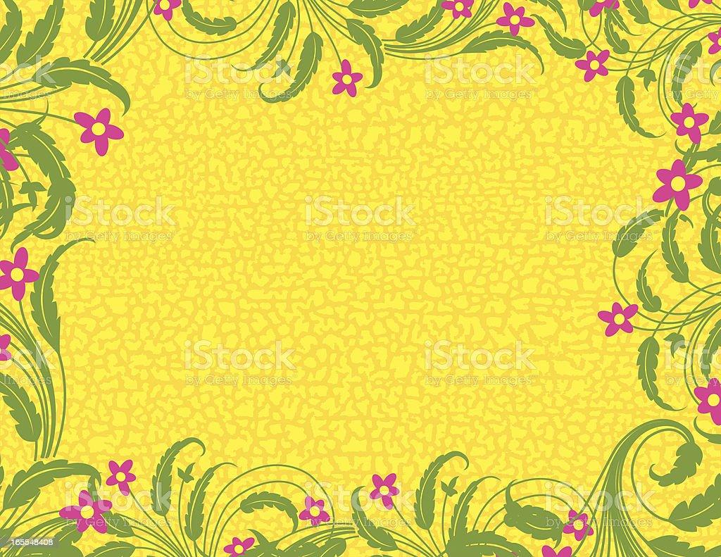 Leafy Grunge Page vector art illustration
