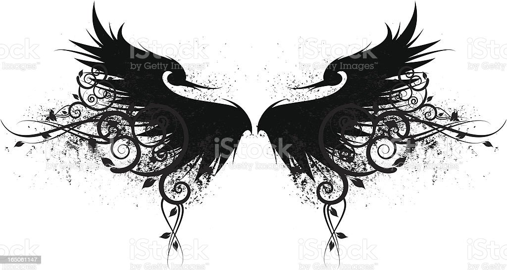 leafy wings royalty-free stock vector art
