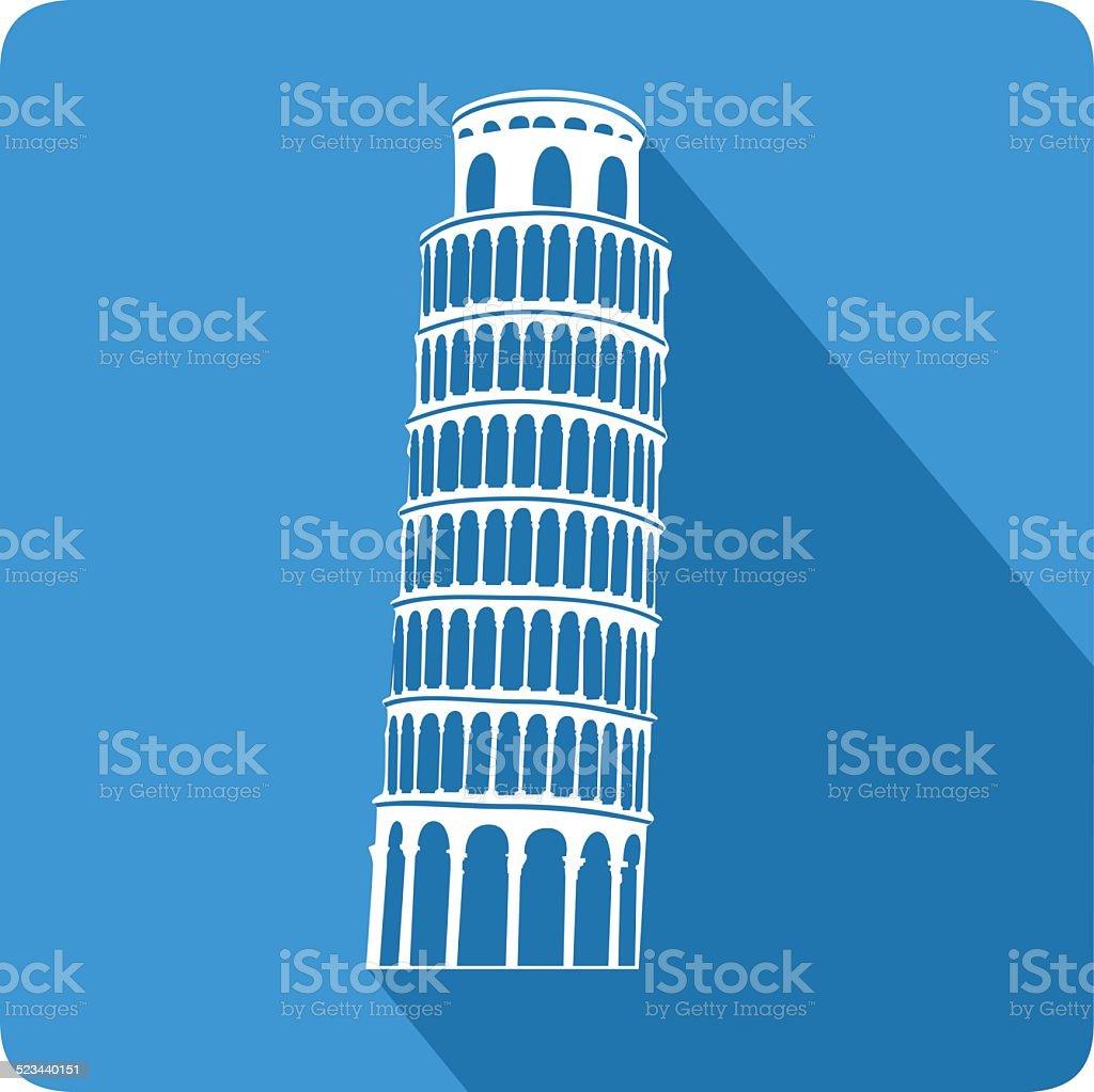 Leaning Tower of Pisa, illustration, vector vector art illustration